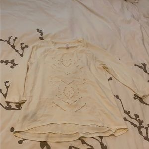Embroidered lace front tunic